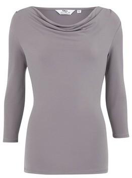 Dorothy Perkins Womens Tall Grey Cowl Neck Top