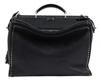Fendi Anna Selleria Black Leather Handbags