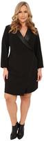 Mynt 1792 Plus Size Tuxedo Wrap Dress