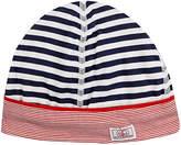 Petit Bateau STRIPED COTTON JERSEY BABY HAT