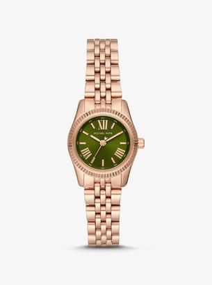 Michael Kors Petite Lexington Rose Gold-Tone Watch