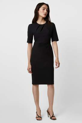 French Connection Freya Glass Stretch Pleated Neck Dress