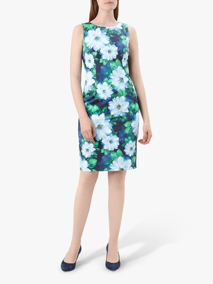 Hobbs Fiona Floral Print Dress, Navy/Multi