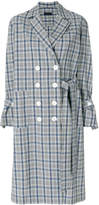 Eudon Choi double-breasted check coat