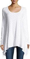 Allen Allen Angled-Hem Tunic Top, White