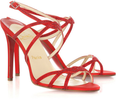 Christian Louboutin DV diamonds 100 sandals