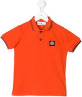 Stone Island Kids logo patch polo shirt