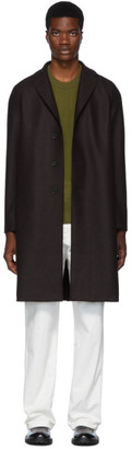 Harris Wharf London Brown Wool Pressed Coat