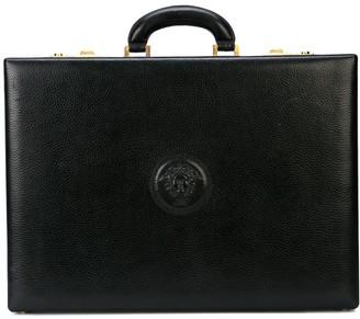 Versace Pre-Owned logo embossed briefcase