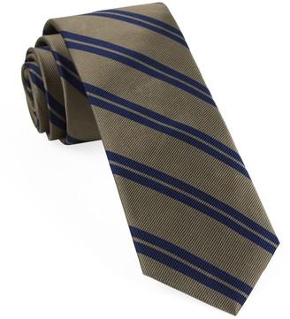 Tie Bar Center Field Stripe Champagne Tie