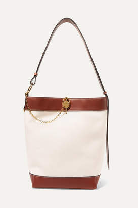 J.W.Anderson Lock Leather-trimmed Canvas Tote - Off-white