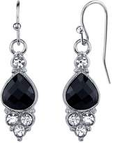 1928 Black Teardrop Cluster Nickel Free Earrings