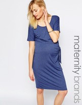 Mama Licious Mama.licious Mamalicious Jersey Dress With Knot Detail