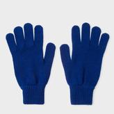 Paul Smith Men's Indigo Cashmere Gloves