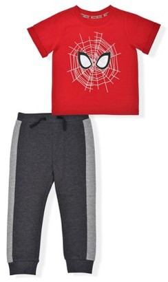 Spiderman Baby Boy & Toddler Boy Short-Sleeve T-Shirt & Jogger Pant Outfit Set, 2-Piece (12M-5T)