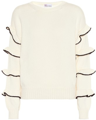 RED Valentino Ruffled cotton sweater
