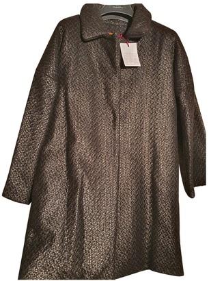 Stella Jean Black Wool Coats