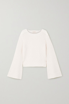 LOULOU STUDIO Tumaraa Ribbed Cotton And Cashmere-blend Sweater - White