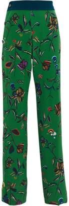 Derek Lam 10 Crosby Silk Floral Track Pants
