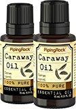 Piping Rock Caraway 100% Pure Essential Oil 2 Dropper Bottles x 1/2 oz (15 ml) Organic Carum Carvi Therapeutic Grade