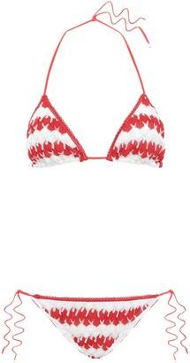Missoni Mare Mare Striped Crochet-knit Triangle Bikini