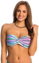 Jessica Simpson Swimwear Limelight Twist Bandeau Bikini Top (DCup) - 8145289