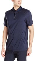 John Varvatos Collection Collection Men's Polo with Shoulder Seam Detail