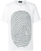 Emporio Armani fingerprint printed T-shirt - men - Cotton/Polyester/Viscose - M