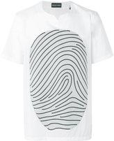 Emporio Armani fingerprint printed T-shirt