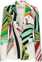 Emilio Pucci Printed Stretch-twill Blazer - Green