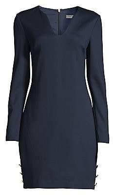 Trina Turk Women's Shiraz Tropical Ponte Scoopneck Dress - Size 0