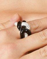 Bebe Twist Enamel & Crystal Ring