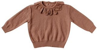 Quincy Mae Baby Petal Knit Sweater - Clay Size 18 - 24 Months