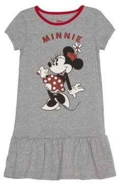 Disney Little Girls Minnie Mouse Short Sleeve Dress