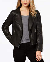 MICHAEL Michael Kors Perforated Leather Moto Jacket