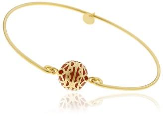 Georgina Jewelry Signature Day Of The Week Limited Edition Bracelet Orange Resin Sphere