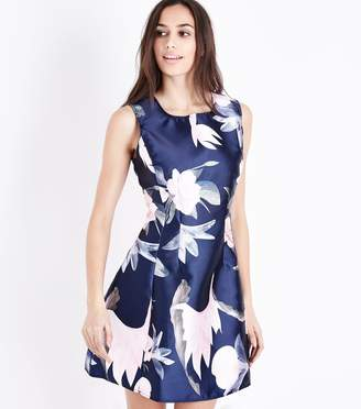 New Look AX Paris Floral Print Skater Dress