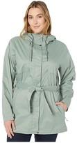 Columbia Plus Size Pardon My Trenchtm Rain Jacket (Black) Women's Coat