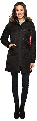Alpha Industries Elyse Parka (Black) Women's Jacket