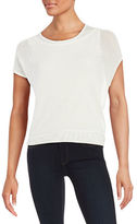 T Tahari Tamia Layered Knit Top