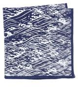 Thomas Mason Wave Pocket Square