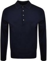 PS By Paul Smith Long Sleeved Polo Jumper Navy