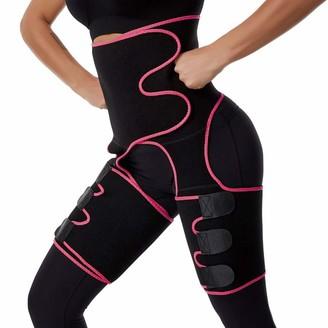 MINIDORA Women Bodysuit Multifunctional Waist Adjustable Elastic Shaping Corset 3 in 4 Weight Loss Butt Lifter Waist Trainer Hips Belt(Rose M)