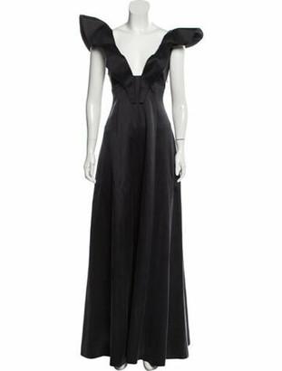 Vika Gazinskaya Sleeveless Evening Dress