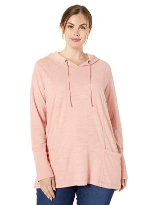 Jag Jeans Women's Plus Size Gemma Hooded Pullover Tunic