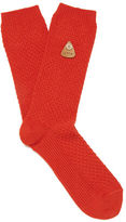 Folk Plain Socks Red