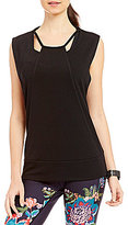 Nanette Lepore Play Active Cut Out Pullover Top