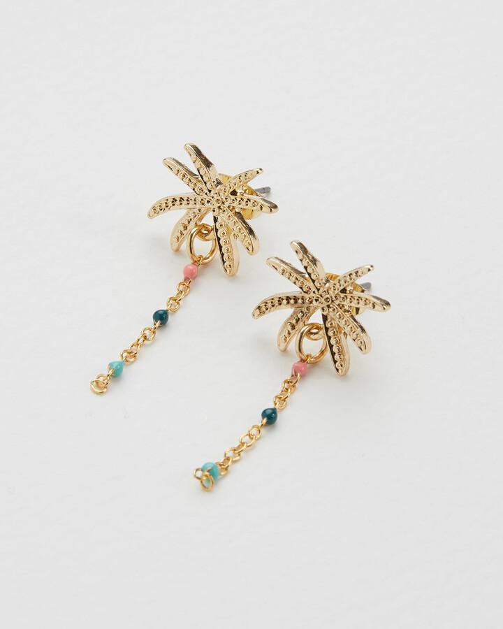 Palmeira Palm Tree Bead Drop Earrings