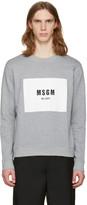 MSGM Grey Box Logo Pullover