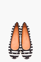 Marc by Marc Jacobs black striped Mouse Flats